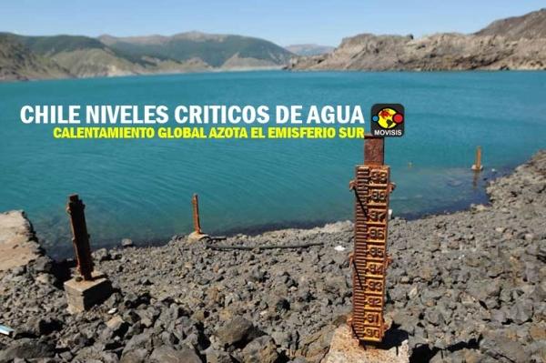 critico el nivel del agua en Chile