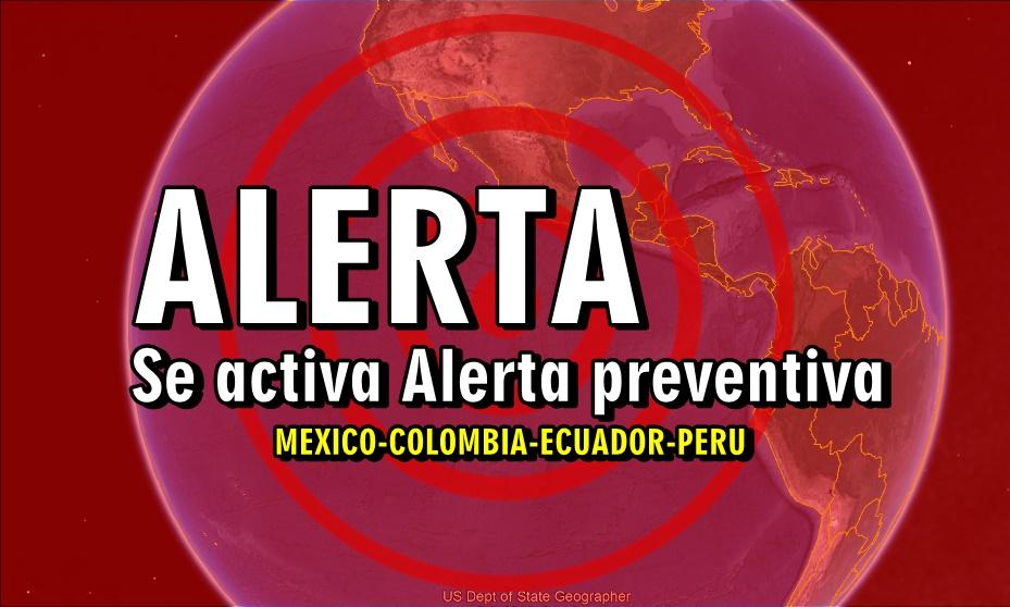 alerta sismica activada en ecuador peru colombia mexico