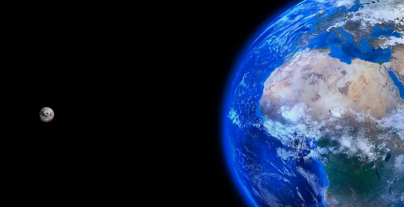 luna tierra fuerza gravitacional