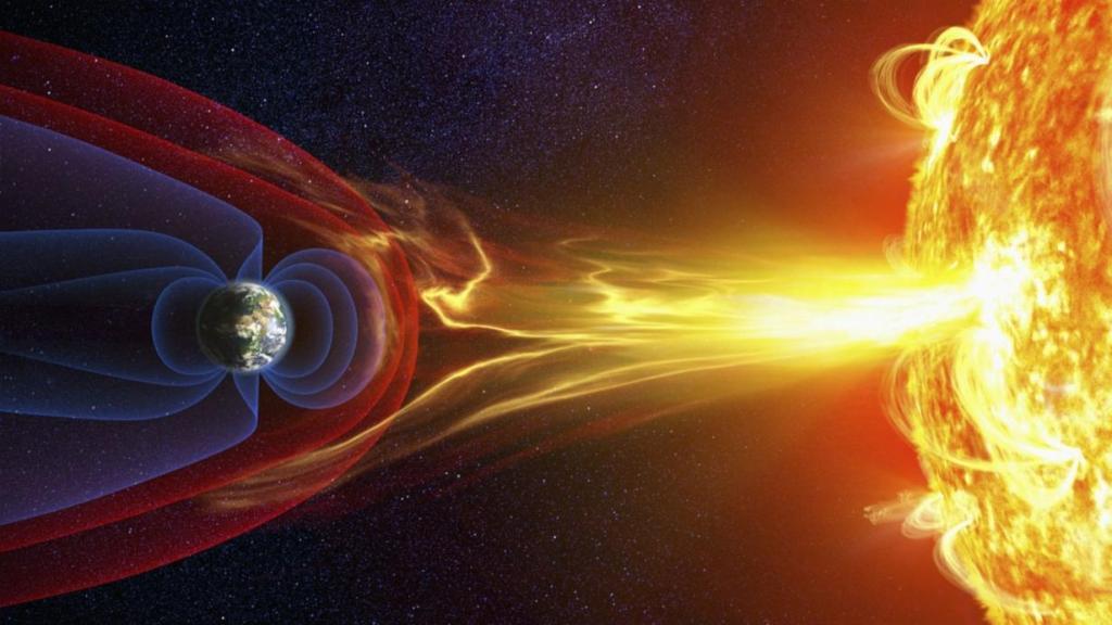 tormenta solar afectando la tierra